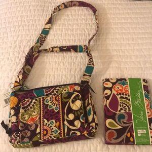 Vera Bradley Plum Crazy Small Bag